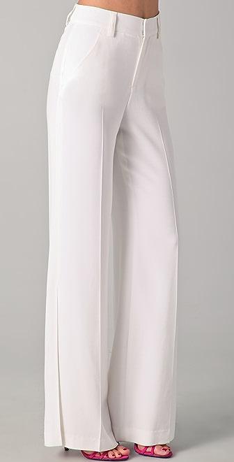 alice + olivia Wide Leg Side Slit Pants