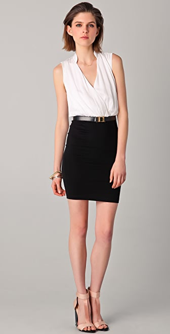 alice + olivia Maureen Slim Wrap Dress