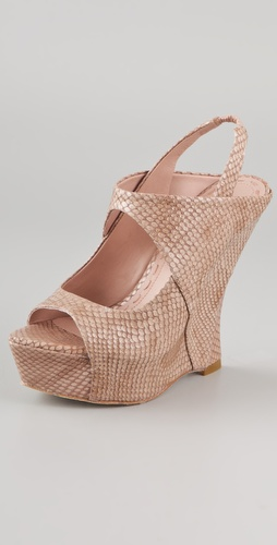 alice + olivia Delilah Snake Wedge Sandals