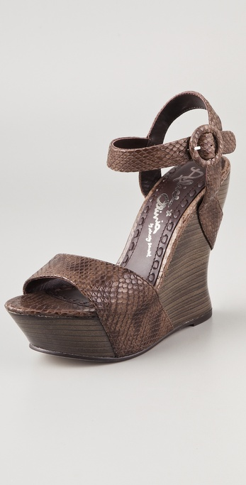 alice + olivia Joyce Snake Wedge Sandals