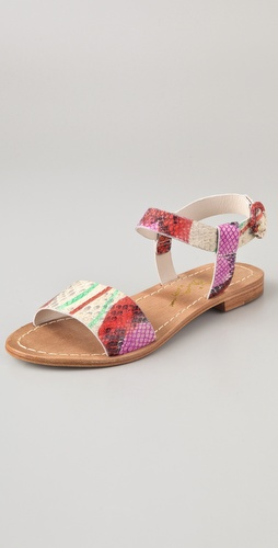 alice + olivia Bella Print Flat Sandals