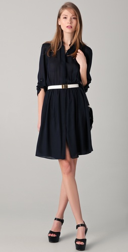alice + olivia Kathleen Shirtdress with Belt
