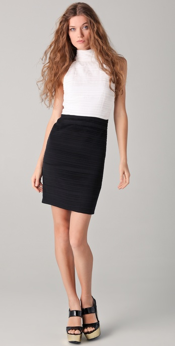 alice + olivia Brooklyn Ruched Dress