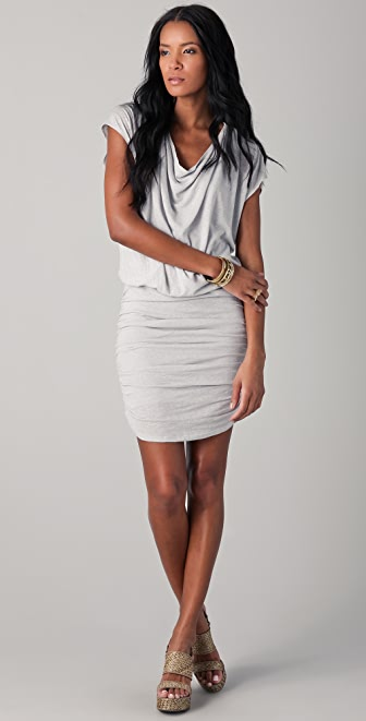 alice + olivia Cowl Neck Draped Dress