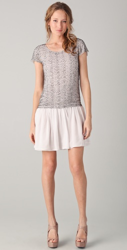 alice + olivia Mora Ruffle Bottom Dress