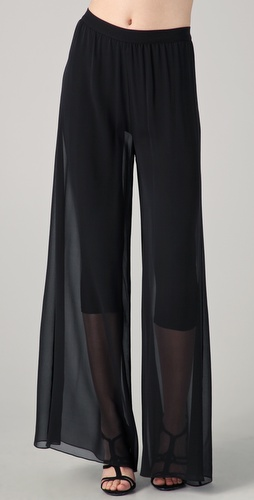 alice + olivia Wide Leg Double Layer Pants