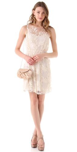 alice + olivia Darcy Lace Layover Dress