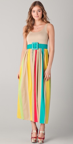 alice + olivia Wade Belted Maxi Dress
