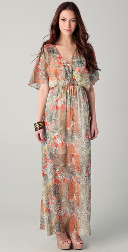 alice + olivia Baska Gathered Maxi Dress