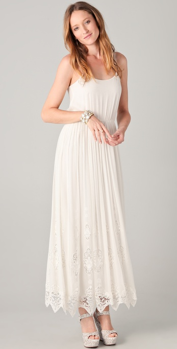 alice + olivia Christy Maxi Lace Tank Dress