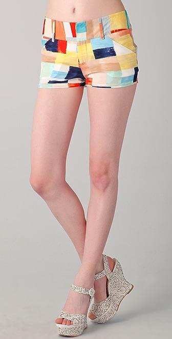 alice + olivia Box Print Shorts