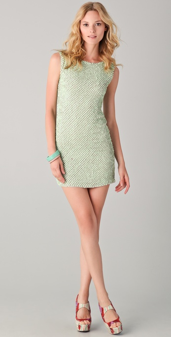 alice + olivia Blume Sequined Tunic Dress