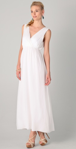 alice + olivia Destiny Silk Blouson Gown