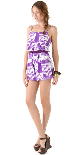 alice + olivia Aida Tank Romper with Belt