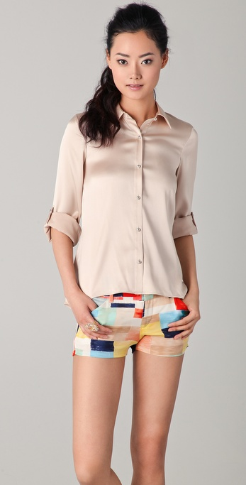 alice + olivia Ellen Button Down Blouse
