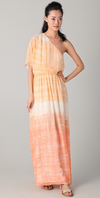 alice + olivia Crawford One Sleeve Maxi Dress