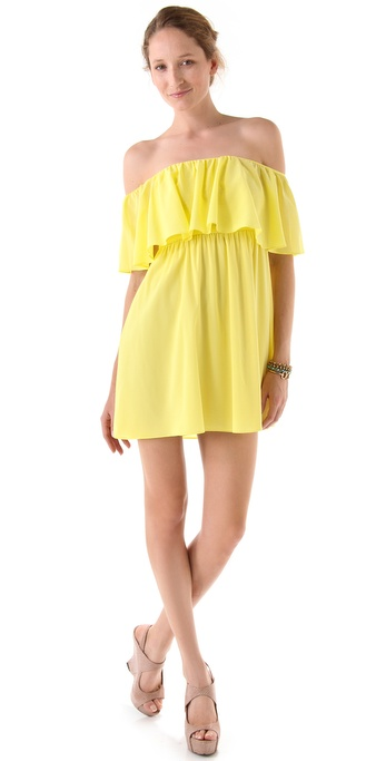 alice + olivia Shari Off Shoulder Dress