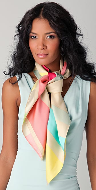 alice + olivia Multi Striped Scarf