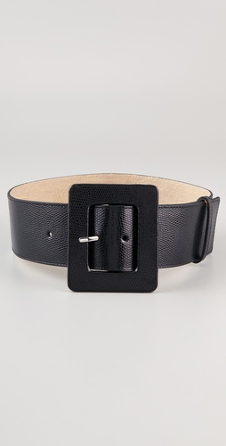 alice + olivia Faux Snake Wide Belt
