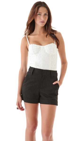 alice + olivia Etta Lace Bustier Top