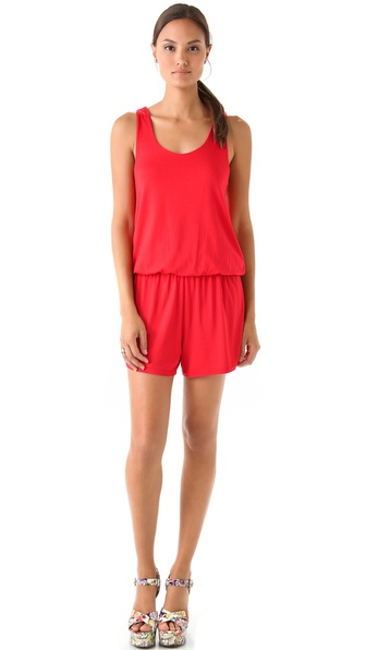 alice + olivia Dede Racer Back Romper