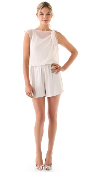alice + olivia Kailey Twist Strap Romper