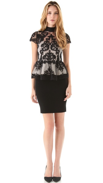 alice + olivia Robyn Bodice Dress
