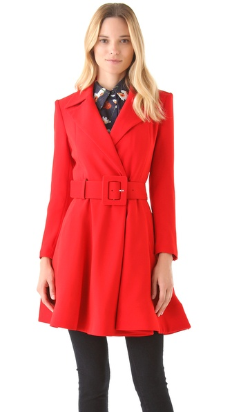 alice + olivia Loris Flare Coat