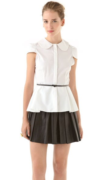 alice + olivia Patsy Peplum Top