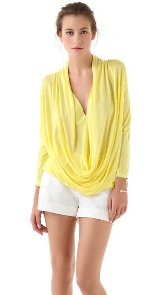 alice + olivia Draped Slouchy Tee