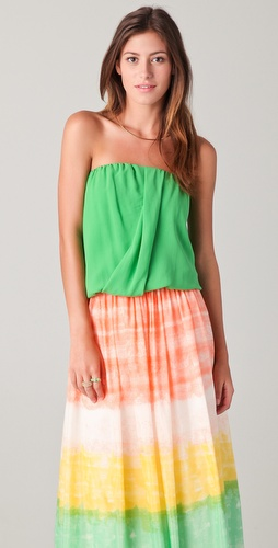 alice + olivia Carmela Draped Top