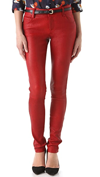 alice + olivia Leather Skinny Pants