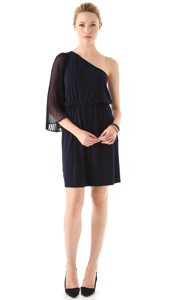alice + olivia Haylie Pleated Dress