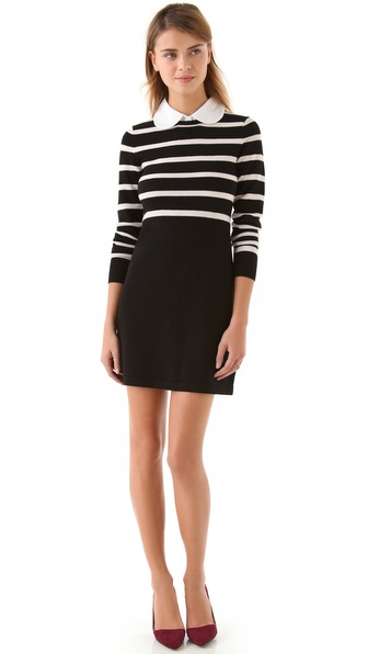 alice + olivia Daisy Mock Bow Tie Dress