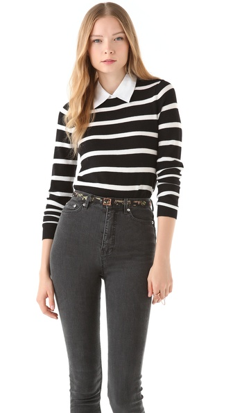 alice + olivia Shellen Nock Bowtie Sweater