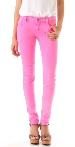 alice + olivia Neon 5 Pocket Skinny Jeans