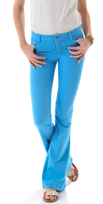alice + olivia Stacey Bell Jeans with Knee Seams