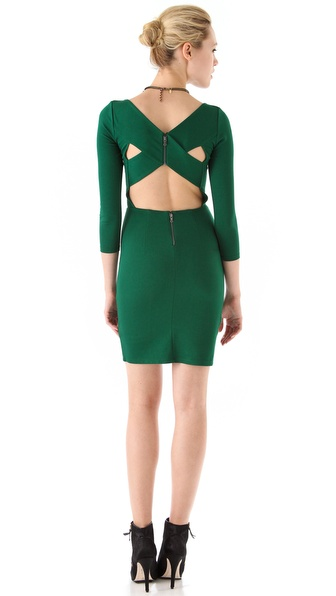 alice + olivia Reid Cross Back Dress