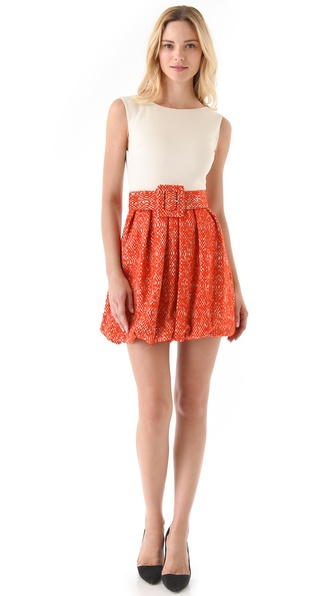 alice + olivia Selby Bubble Skirt Dress