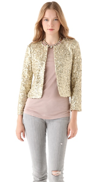 alice + olivia Brianna Sequin Box Jacket from shopbop.com