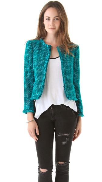 alice + olivia Gwen Collarless Jacket
