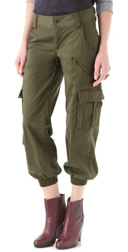 alice + olivia Smocked Cargo Pants