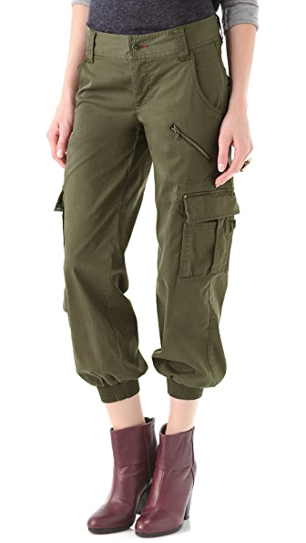 alice + olivia Smocked Cargo Pants