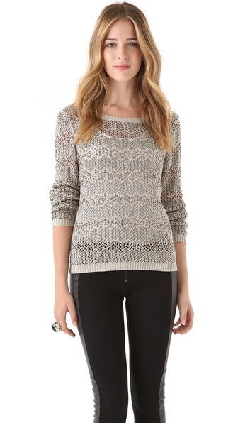 alice + olivia Brenna Beaded Sweater