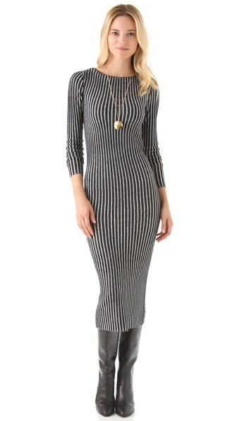 alice + olivia Zella Long Rib Dress