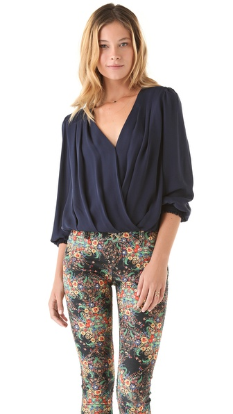 alice + olivia Bonnie Crossover Top