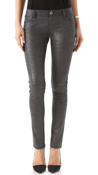 alice + olivia Metallic Ponte Skinny Pants