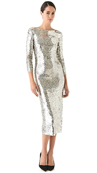 alice + olivia Abbey Sequin Dress