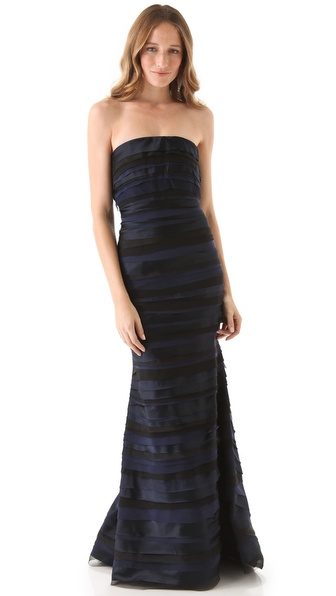 alice + olivia Ryder Tiered Gown