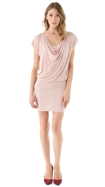 alice + olivia Cowl Neck Drape Dress